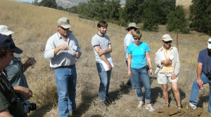 Annual Field Tour looks at a woodland soil.