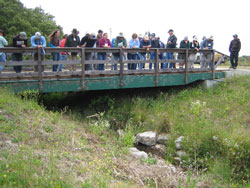 Brian Dietterick discusses a stream crossing.