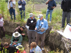 Kerry Arroues and Dave Smith discuss soil taxonomy.