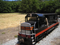 Swanton Pacific Ranch's locomotive engine.