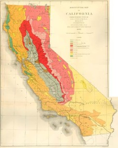 1883 Soil Map of California by Hilgard and Lohenbridge