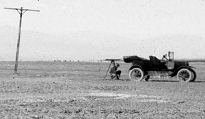 Working with a plane table in 1920, in the Imperial Valley