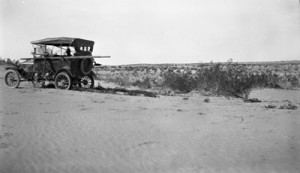 Loaded with soil mapping equipment for the 1920 soil mapping near the Imperial Valley of California.