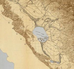 """1873 Tulare Lake Map (courtesy """"commons.wikimedia"""")"""